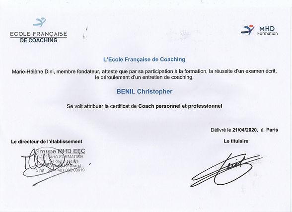 Certification Coach Personnel & Professi