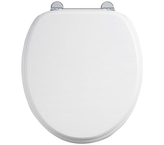 Burlington WC Seat Gloss White With Chrome Hinge