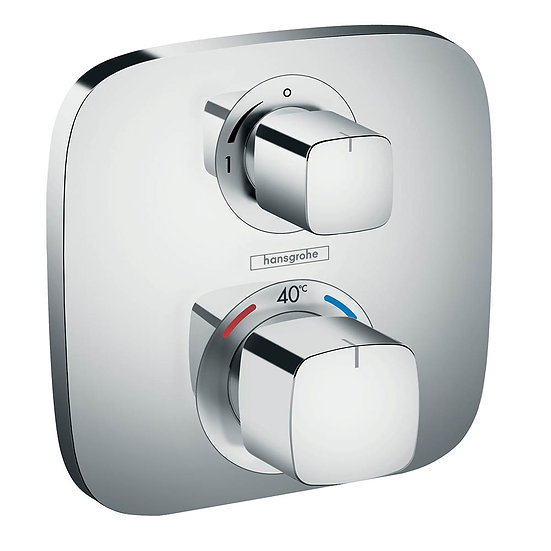 HANSGROHE ECOSTAT E THERMOSTATIC MIXER WITH SHUT OFF VALVE CHROME