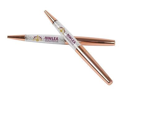 Rose Gold Crystal Pen