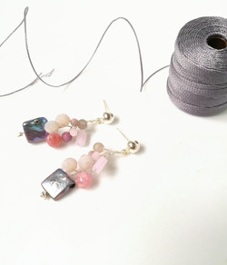 perła opleciona szkłem i jadeitem