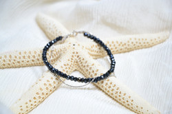 Black spinel with silver