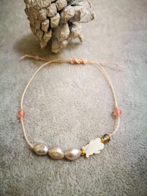 perła z misiem z masy perłowej