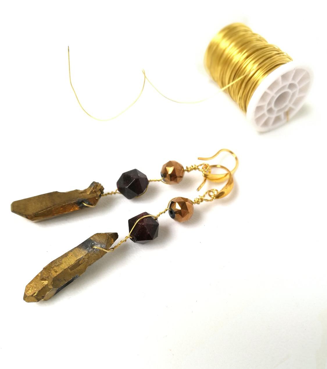 Gold piryth , granat