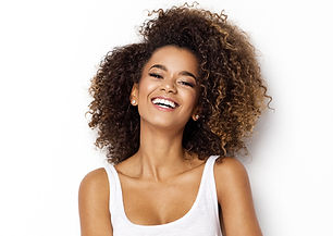 Beautiful african american girl with an