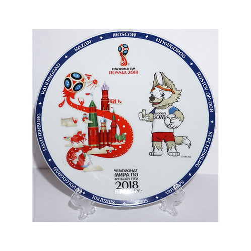 "Тарелка - сувенир ""Забивака"" 15 см FIFA World Cup Russia 2018"