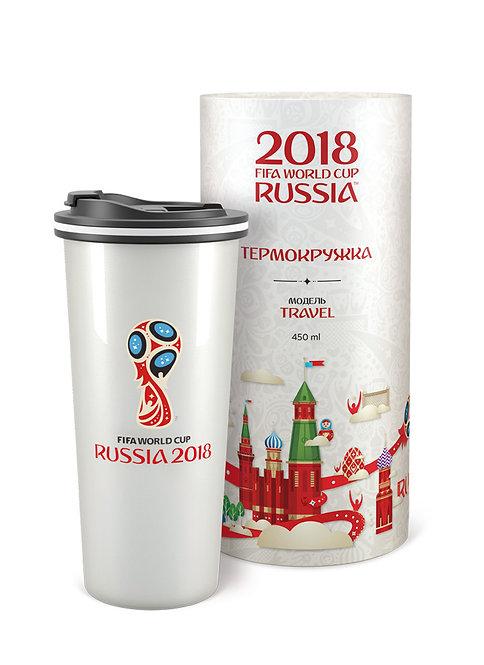 Термокружка «Эмблема» цв. жемчужный (450 мл) 2018 FIFA World Cup Russia™