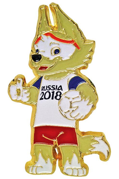 Значок (PIN) 3 см эмаль Забивака FIFA World Cup Russia 2018