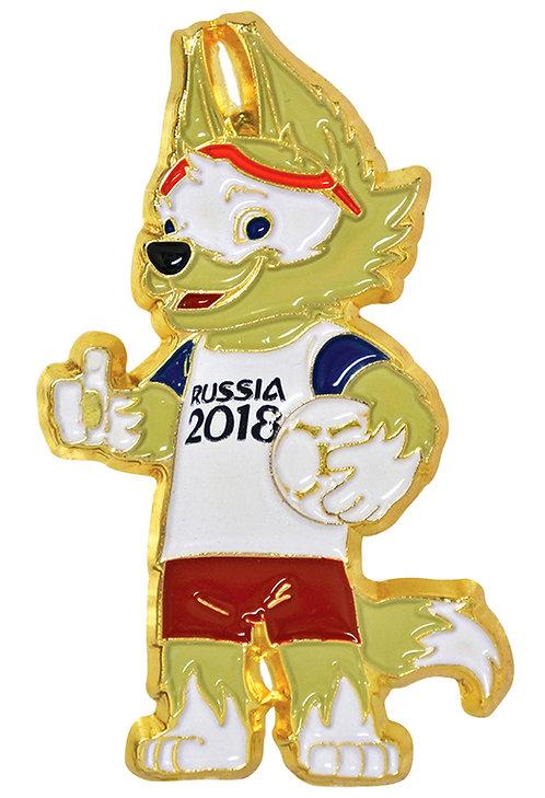 Значок (PIN) 4 см эмаль Забивака FIFA World Cup Russia 2018