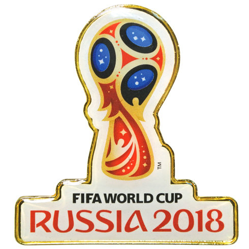 Значок 4 см (PIN) Эмблема FIFA World Cup Russia 2018