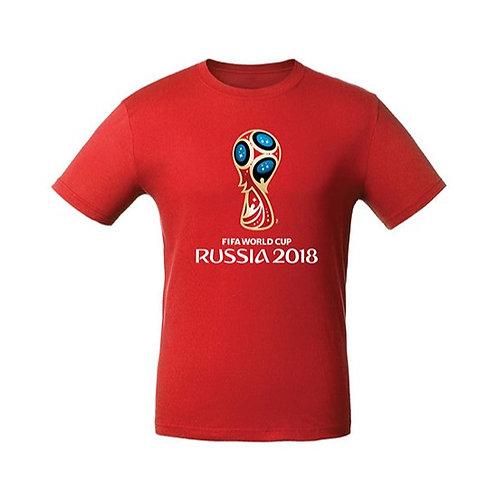 Футболка мужская (эмблема) красная FIFA World Cup Russia 2018