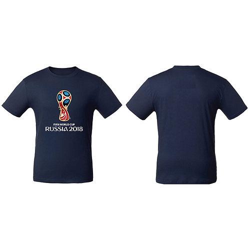 Футболка мужская (Эмблема) цв. темно-синий FIFA World Cup Russia 2018