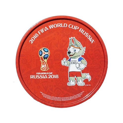 "Тарелка металлическая ""Забивака и Эмблема"" 20,5 см FIFA World Cup Russia 2018"