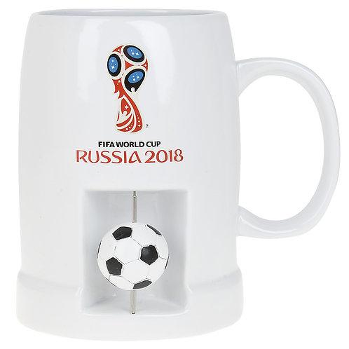 """Кружка керамическая (для пива) """"ЧМ 2018"""" 650 мл FIFA World Cup Russia"""