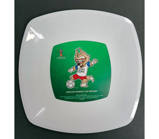 Тарелка пластиковая 23*23 см (2 штуки) FIFA World Cup Russia 2018