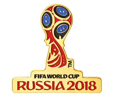Значок (PIN) 4 см эмаль Эмблема FIFA World Cup Russia 2018