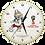 Thumbnail: Часы настенные Забивака (24 см) FIFA World  Cup Russia 2018