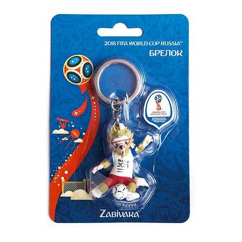 "Брелок ""Забивака бьёт мяч 3D"" ПВХ 2018 FIFA World Cup Russia™"