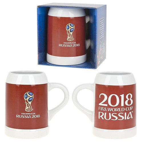 """Кружка керамическая (для пива) красн. """"ЧМ 2018"""" 500 мл FIFA World Cup Russia"""