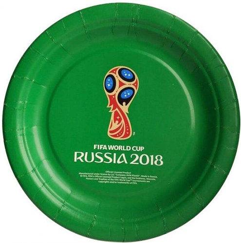 Тарелка одноразовая бумажная 23 см (6 штук) FIFA World Cup Russia 2018