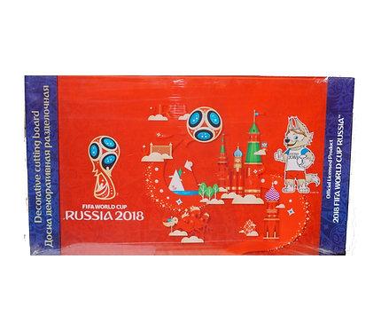 "Доска разделочная ""Забивака"" стеклянная 20х35 см FIFA World Cup Russia 2018"