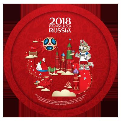 "Тарелка металлическая ""Забивака"" 20,5 см FIFA World Cup Russia 2018"
