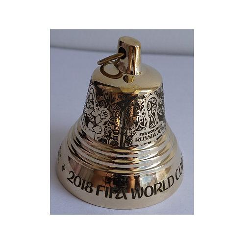 Колокольчик металлический (цвет золотой) Эмблема 2018 FIFA World Cup Russia™