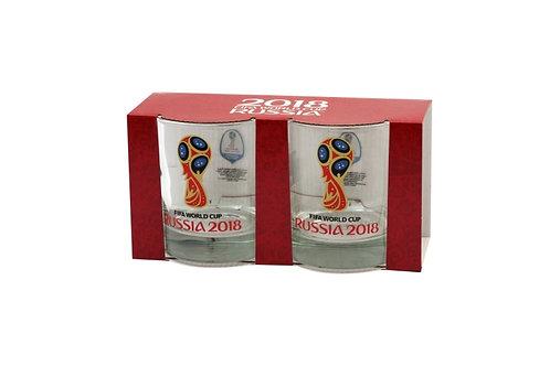 """Набор стаканов 300 мл """"Исланд""""(низкий, 2 шт) Эмблема 2018 FIFA World Cup Russia"""