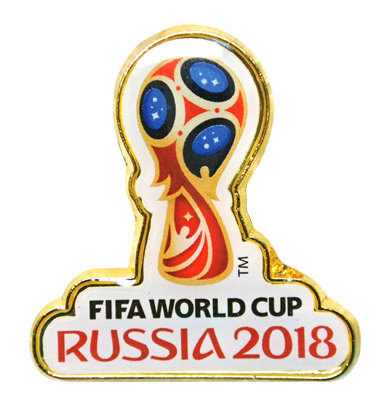 Значок (PIN) 3 см Эмблема FIFA World Cup Russia 2018