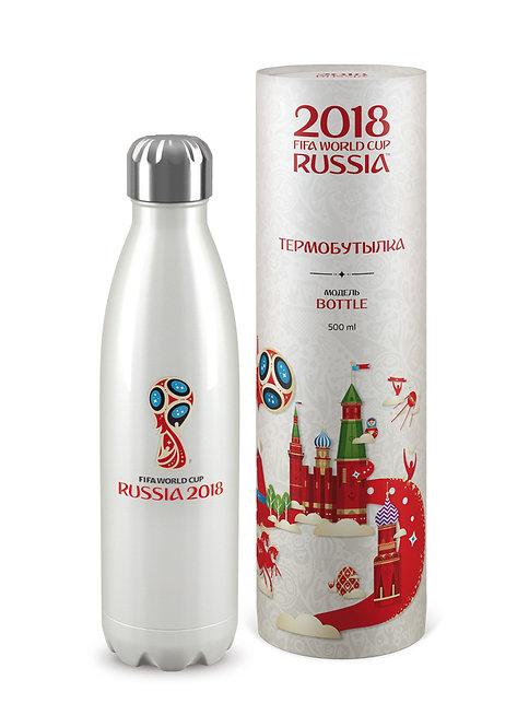 Термобутылка «Эмблема» Жемчужный цв. (500 мл)  2018 FIFA World Cup Russia™