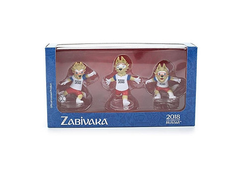 Фигурки FIFA 2018 Zabivaka Set №2(celebrating) 6см 3шт в подарочной коробке