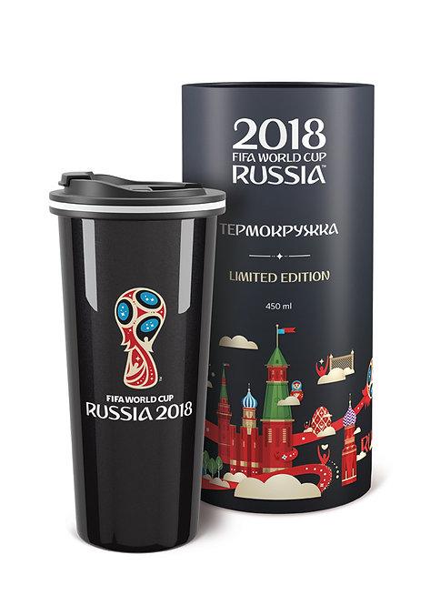 Термокружка «Эмблема» BLACK EDITION (450 мл) 2018 FIFA World Cup Russia™