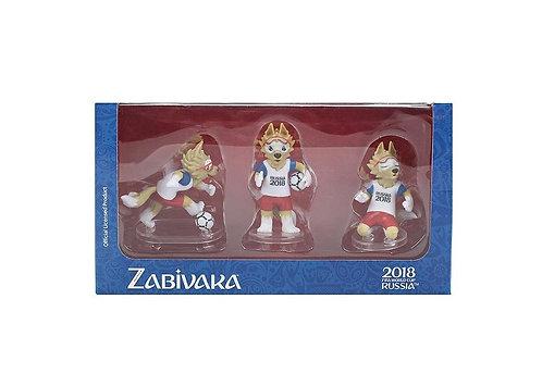Фигурки FIFA 2018 Zabivaka Set №1(standart) 6см 3шт в подарочной коробке