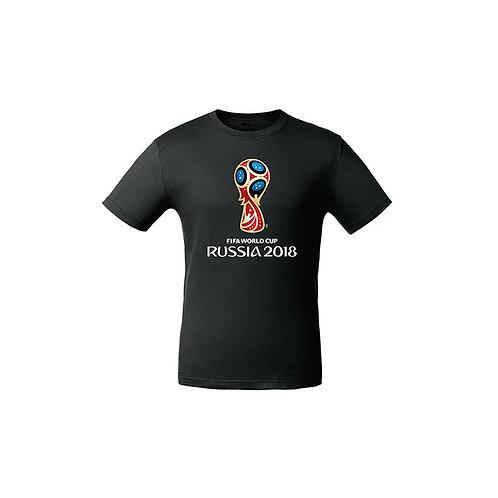 Футболка мужская (Эмблема) цв. черный FIFA World Cup Russia 2018