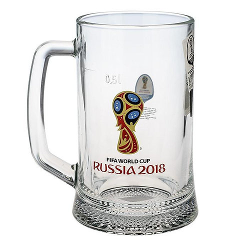 Кружка для пива «Ладья» 500 мл «Эмблема» FIFA World Cup Russia 2018