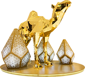 kıristal deve ramazan 3d obje tema aktivite alanı gold