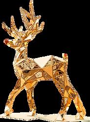 kıristal geyik hayvan 3d obje tema aktivite alanı gold
