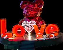 kıristal ayı love 3d obje tema aktivite alanı
