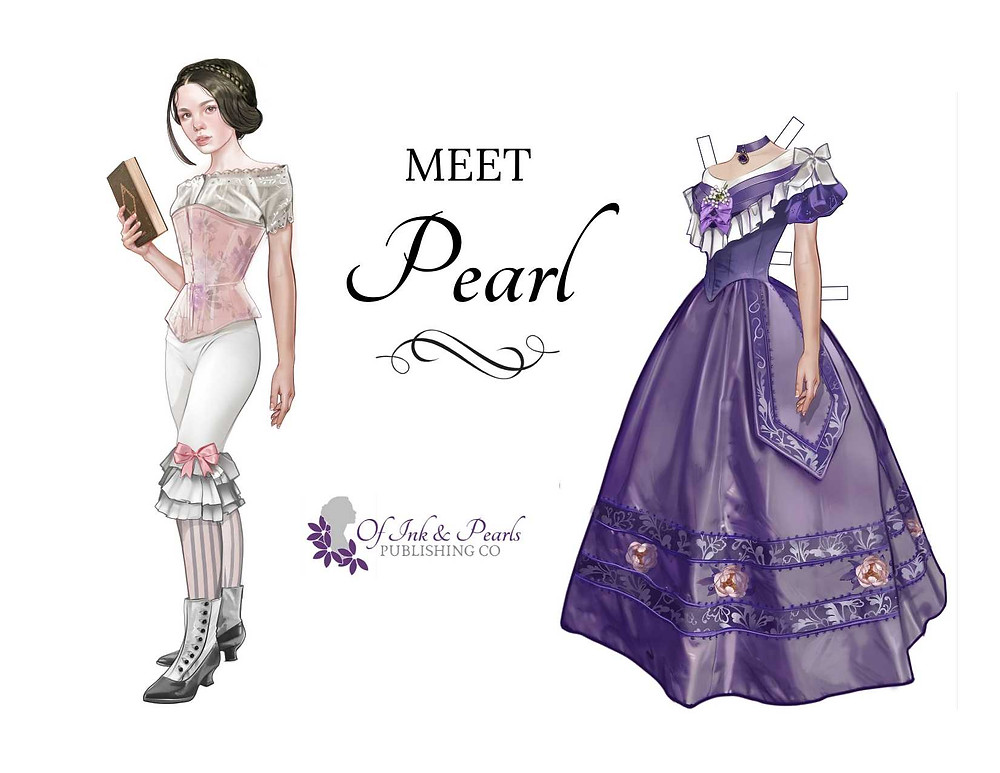 Girl and Victorian Ball gown paper doll