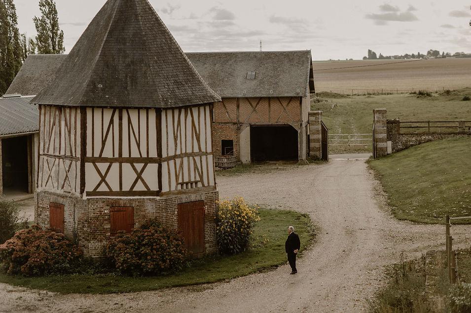 Mariage en Normandie , gite de Guiseniers