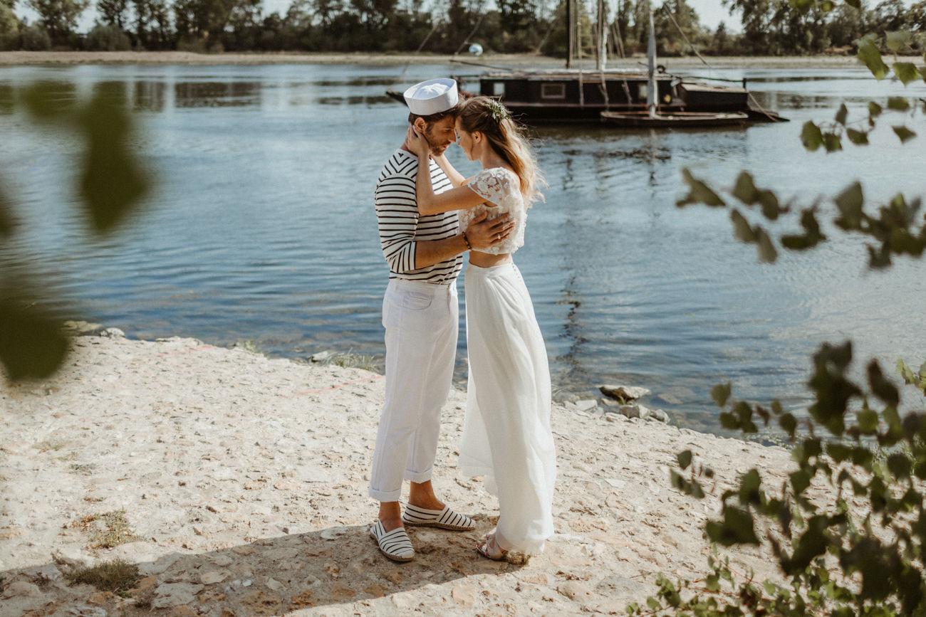 mariage inspiration au bord de l'eau en Touraine