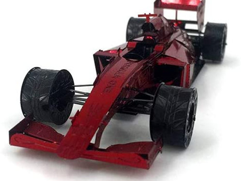 Formula 1 Metal Model Kit Red Racing Car 3D High Definition NanoToy F1 Miniature