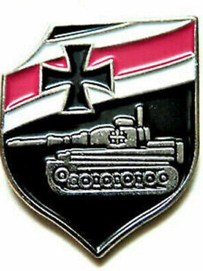 German Panzer Tank Badge Metal & Enamel Pin Lapel Reproduction