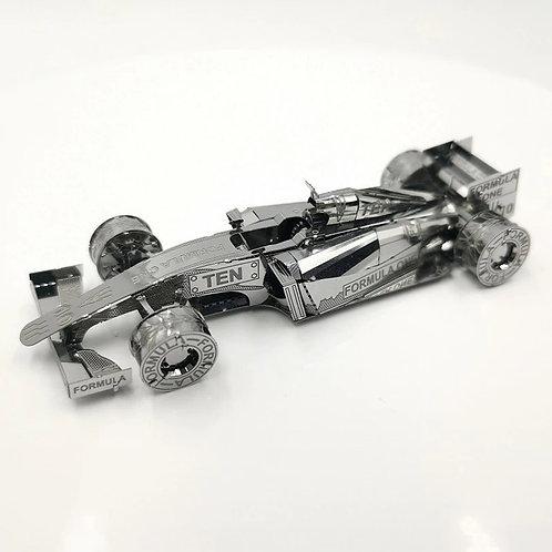 F1 Car Metal Model Kit 3D Laser-Cut in a Card Pack