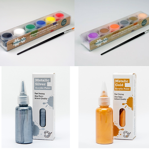 Acrylic Paint Set Collection for Wooden Models by Timberkits