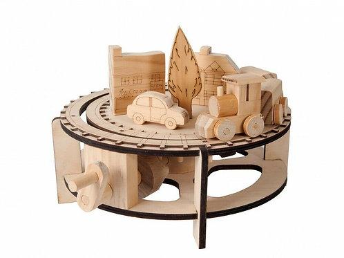 Chuffy Train Natural Wood Moving Model Kit
