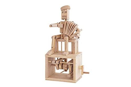 Accordion Player Natural Wood Automata Model Kit, Timberkits
