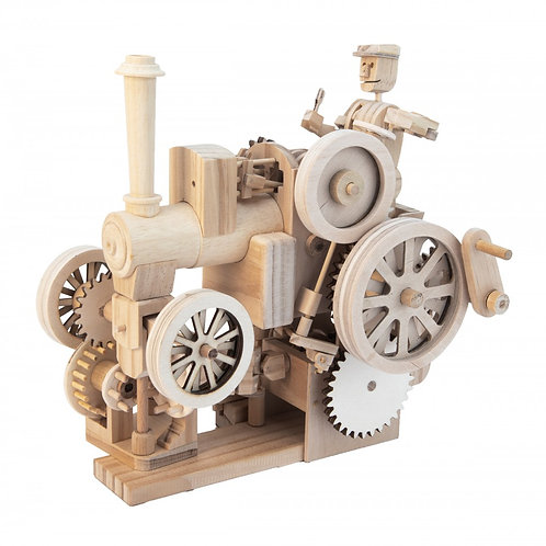 Traction Engine Kit Moving Wooden Model Automata by Timberkits