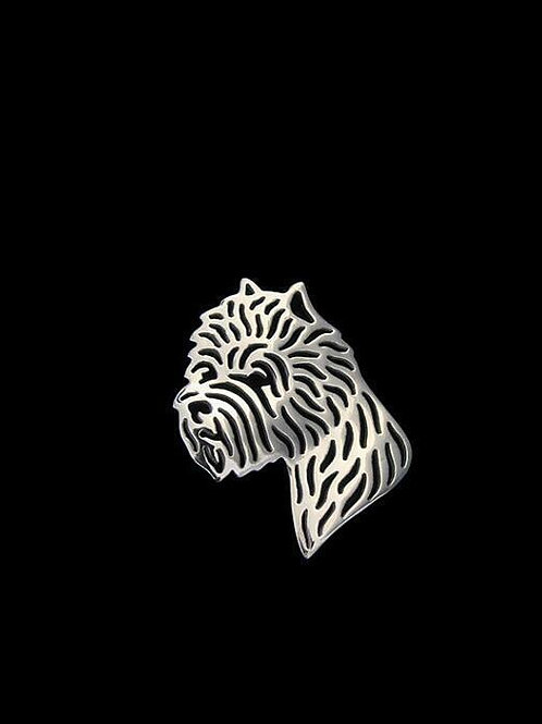 """West Highland White Terrier """"Westie"""" Dog Brooch Lapel Pin Silver Colour New"""