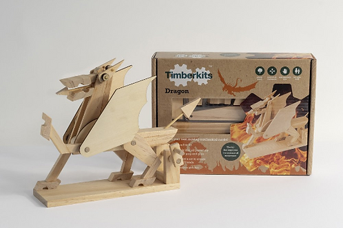 Dragon Natural Wood Automata Model Kit with Various Accessory Options To Add